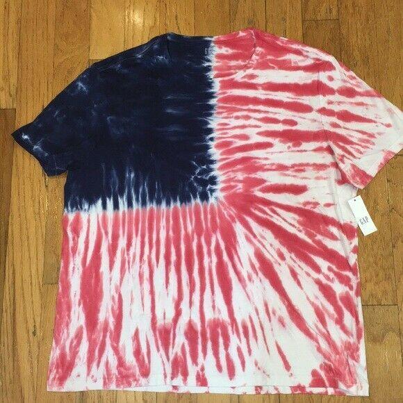 Gap Men S L Xl American Flag Patriotic Tie Dye T Shirt New Nwt Gap Basictee Tie Dye Dye T Shirt Tie Dye T Shirts