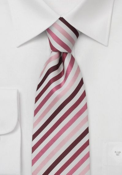 Gestreifte Krawatte pink