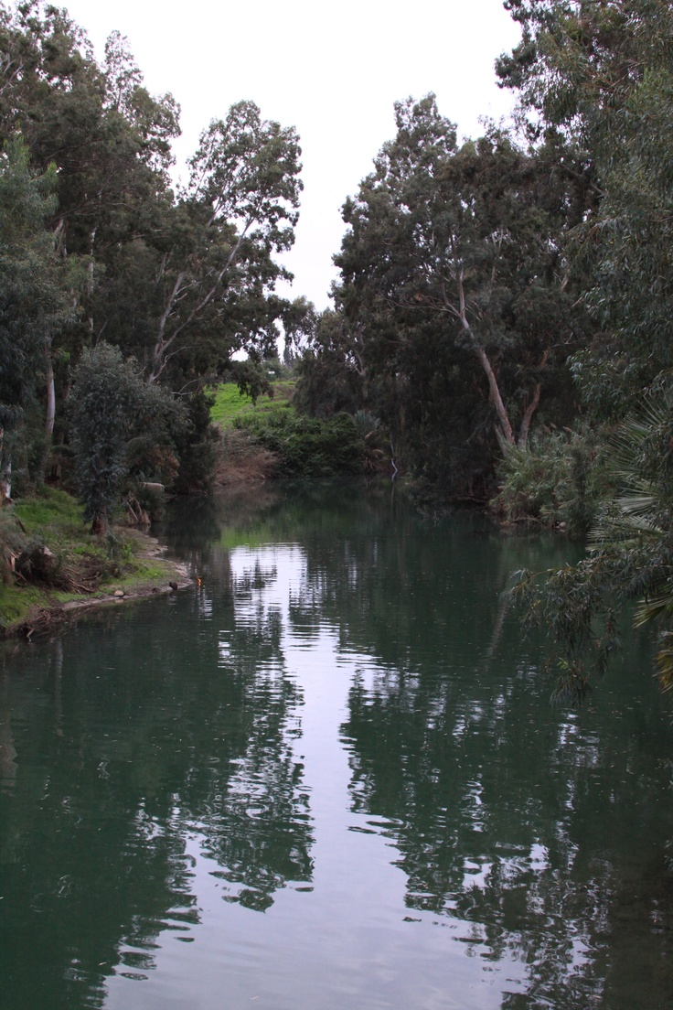 Jordan River, Israel  I'm in awe that this is where my Savior was baptized!