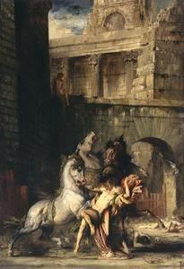 Gustave Moreau - Diomède dévoré par SES chevaux