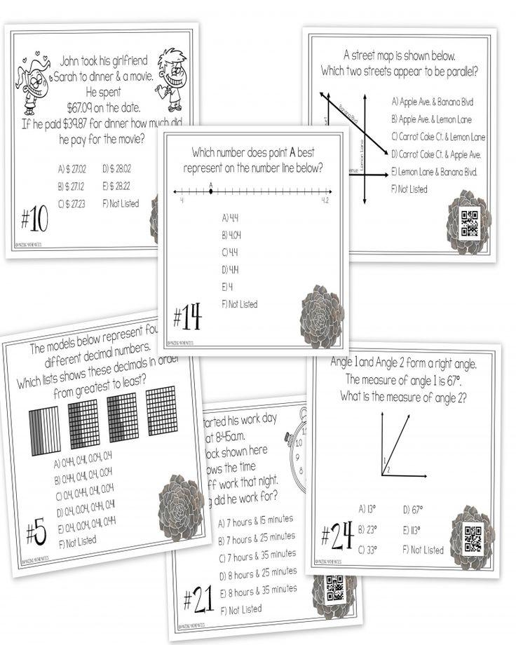 Staar Teks 8th Grade Math Practice Worksheets Printable