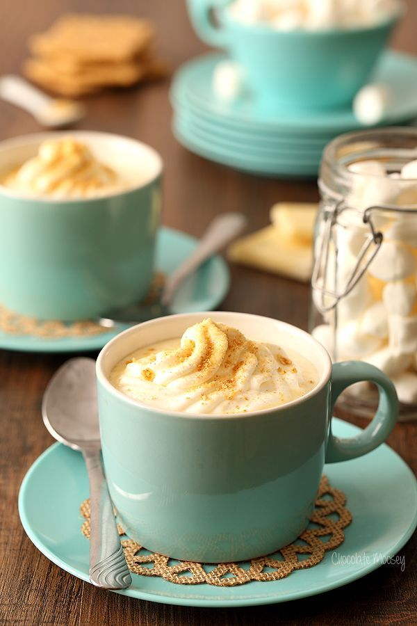 Cheesecake Hot Chocolate made with white chocolate tastes just like cheesecake in a cup without having to wait for a whole cheesecake to bake.