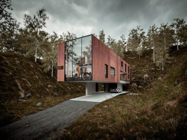 Maison contemporaine de Hyde+Hyde Architects - Visit the website to see all pictures http://www.amenagementdesign.com/architecture/maison-contemporaine-hydehyde-architects