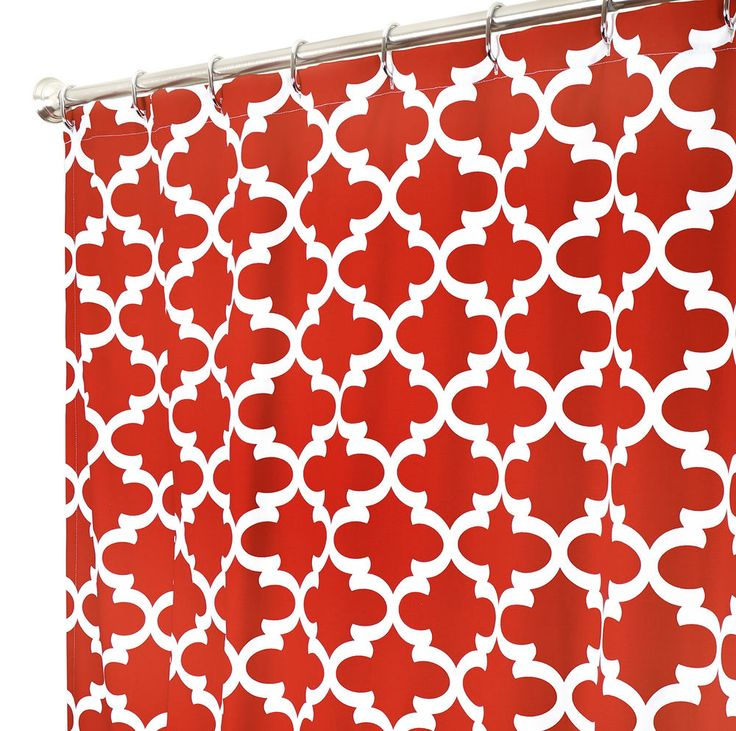 1000 Ideas About Red Shower Curtains On Pinterest