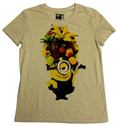 Despicable Me Minion Made Womens Minion Fruit Hat Boyfriend T-Shirt - Medium @ niftywarehouse.com