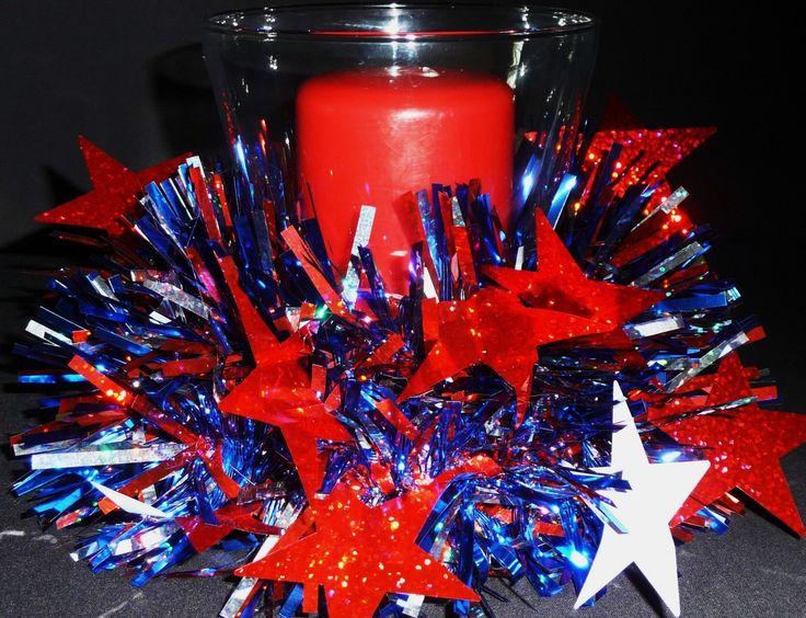 Patriotic Decorations   Patriotic Centerpiece, Table Decor, Table Centerpiece, Bar Decor ...