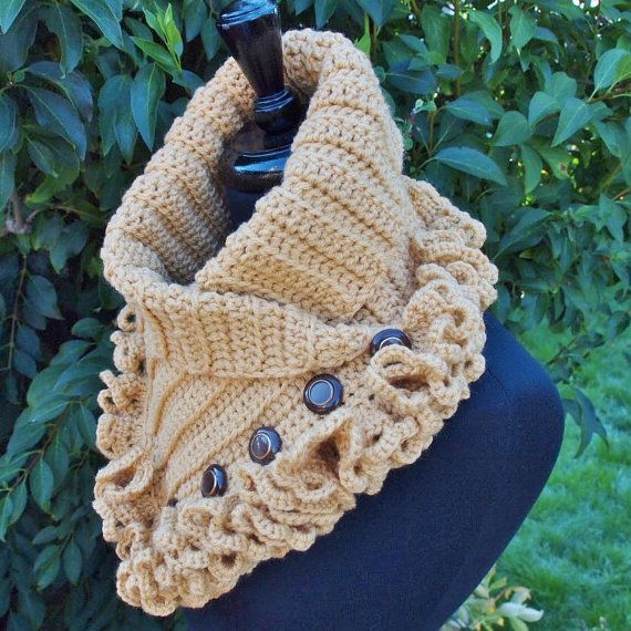 Golden Tan Toffee Victorian Steampunk Crochet by ParasolDesign