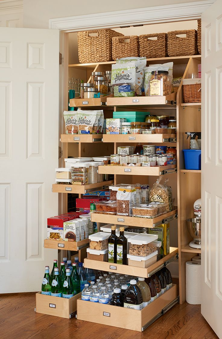 ShelfGenie provides custom shelving for your pantry.
