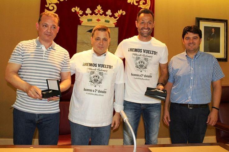 VISITA DEL ALBACETE BALOMPIÉ AL AYUNTAMIENTO  Albacete Balompié Ayuntamiento de Albacete Fútbol Noticias deportes