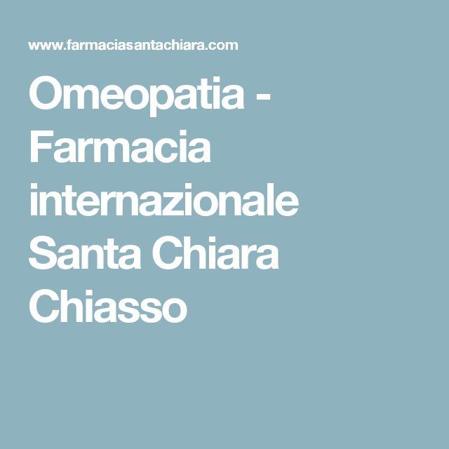 Omeopatia - Farmacia internazionale Santa Chiara Chiasso