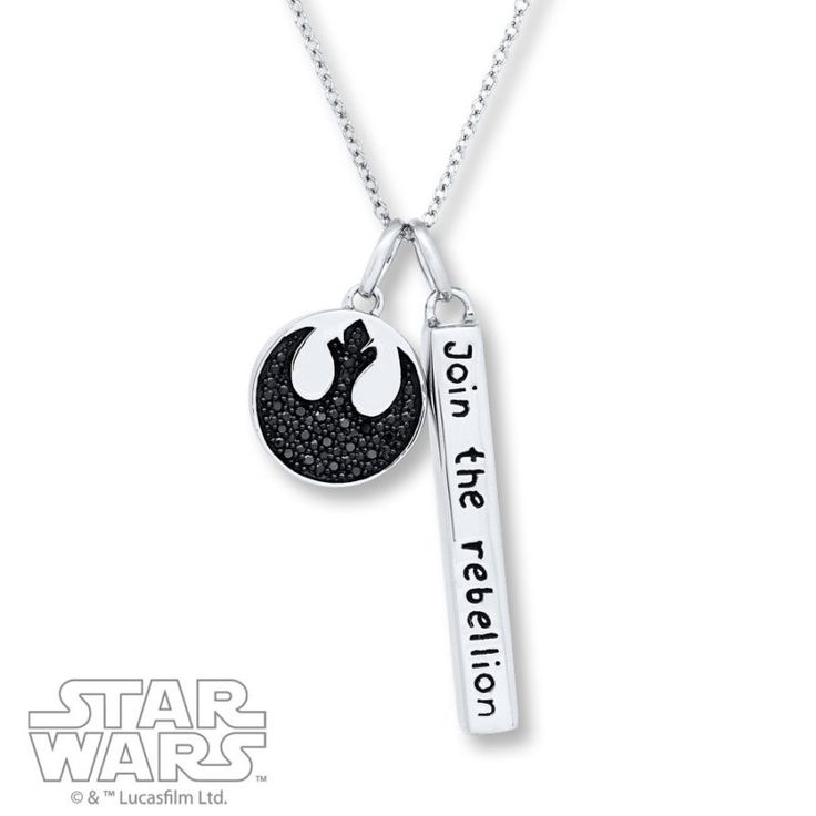 Kay Jewelers x Star Wars Rogue One Join The Rebellion Sterling Silver necklace ⭐️ Star Wars fashion ⭐️ Geek Fashion ⭐️ Star Wars Style ⭐️ Geek Chic ⭐️