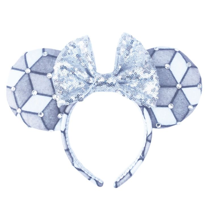 EPCOT Mouse Ears, Spaceship Earth Ears, Minnie Mouse Ears, EPCOT Ears, Custom Mouse Ears by ExtraMagicHours on Etsy https://www.etsy.com/listing/258973129/epcot-mouse-ears-spaceship-earth-ears