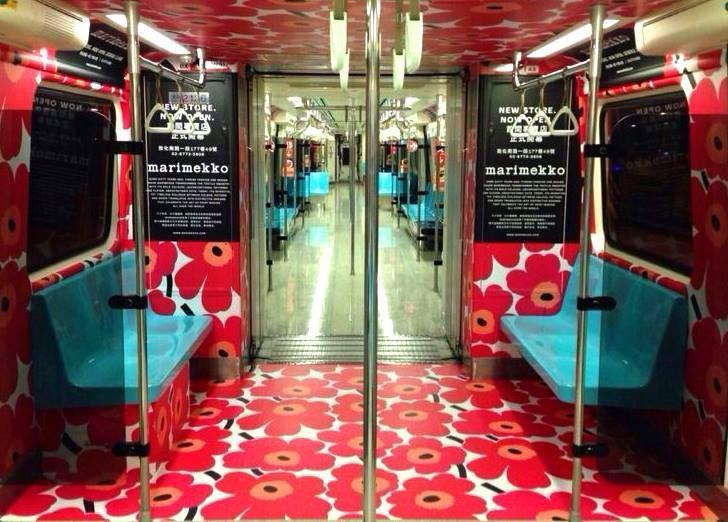 #marimekko #unikko Taipei metro in honor of flagship opening
