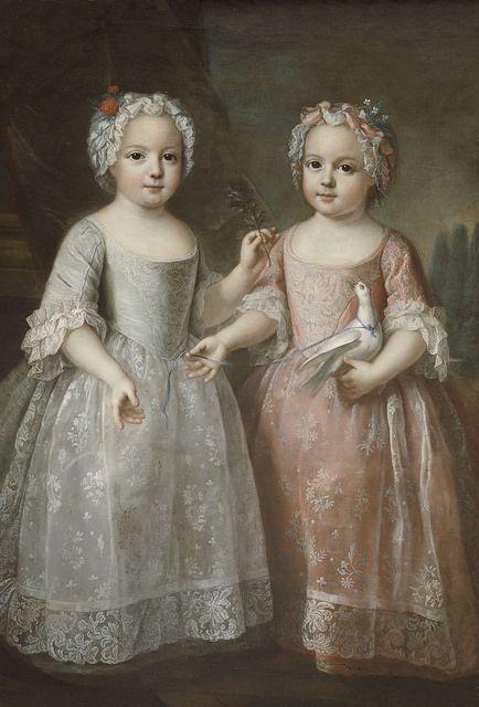 MADAME LOUISE-ELIZABETH DE FRANCE ET SA SOEUR JUMELLE MADAME HENRIETTE. | by the lost gallery