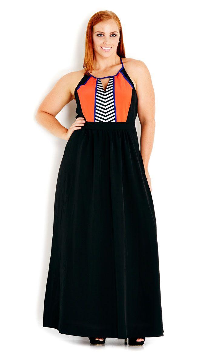 City Chic - FUN AZTEC MAXI DRESS - Women's Plus Size Fashion #citychic #citychiconline #newarrivals