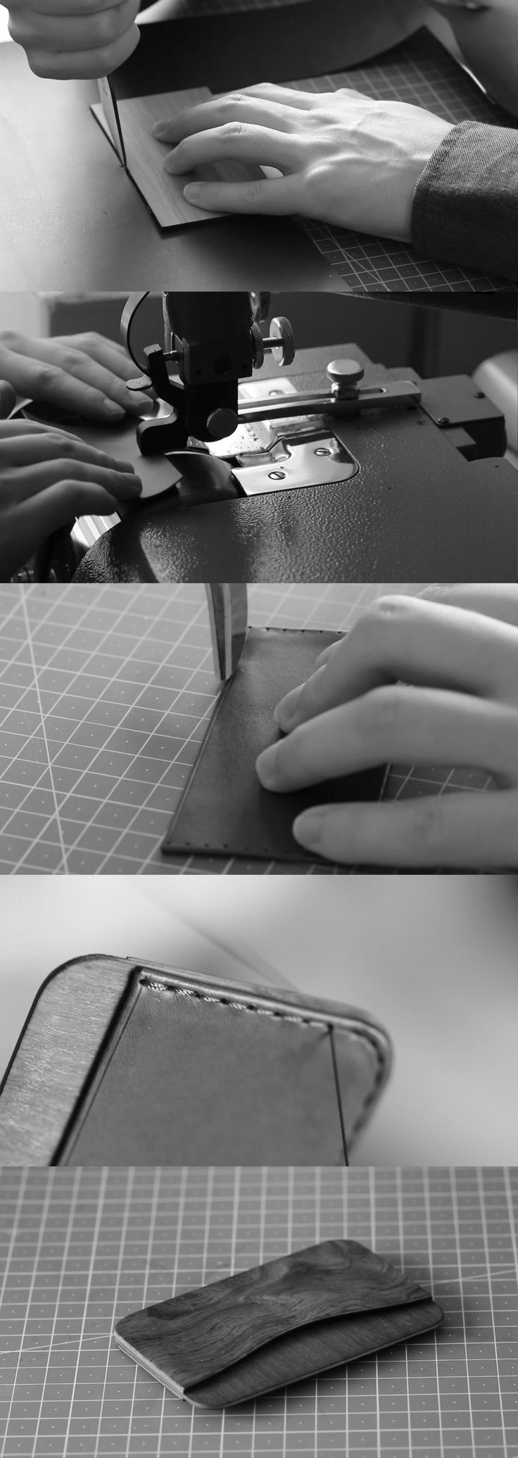 Making of the wood leather wallet designed by IngeniousBros