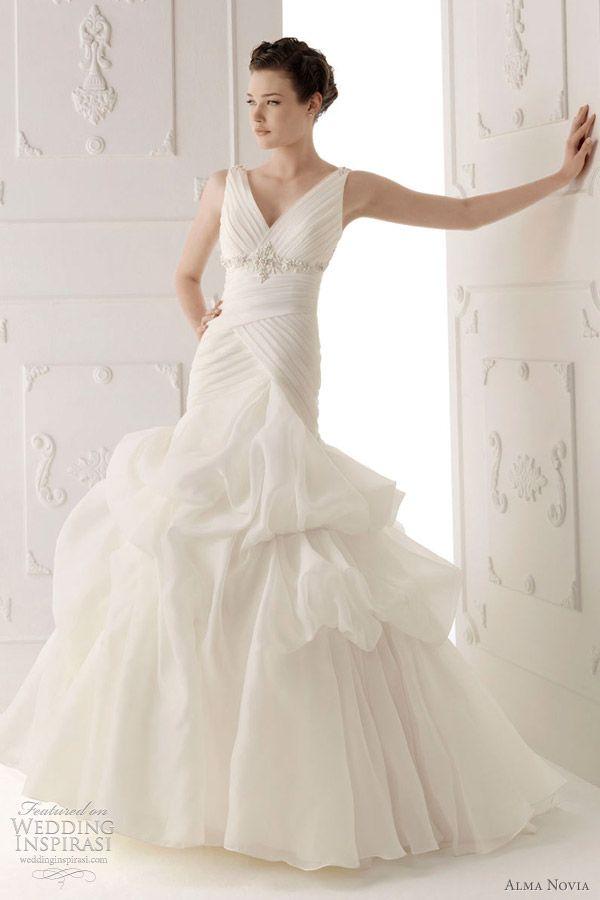 Wedding Dress Dreams... Alma Novia '12 Suave dress with pleated bodice and gathered skirt.