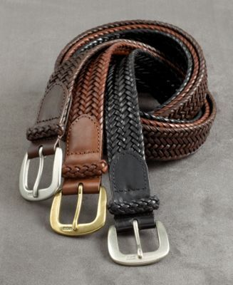 Polo Ralph Lauren Accessories, Chunky Leather Braid Belt - Mens Big & Tall Belts - Macy's