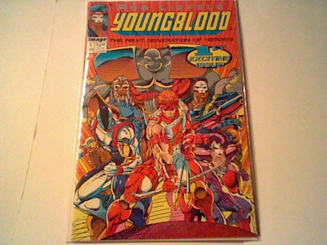 1993 YOUNGBLOOD #1 , 1ST PRINT - 1ST APPEARANCE - ROB LIEFELD ,Extreme Studios