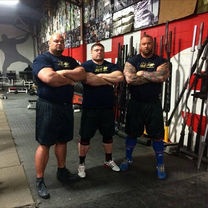 Brian Shaw, Zydrunas Savickas and Hafthor Bjornsson ...