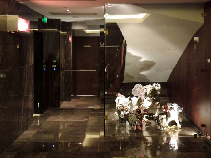 """Front general aspect of Johnston Foster's """"Lucky Dog"""" at New Hotel, Athens, 2014.  Photo credits: Megakles Rogakos, M.A., M.A. Art Historian & Exhibition Curator. Special thanks to The Blender Gallery.  #special #art #gallery #NEW #hotel #Athens"""