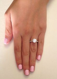 2.56 CT ROUND CUT WHITE Sapphire SOLITAIRE ENGAGEMENT RING 14K WHITE GOLD