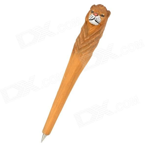 Brand: N/A; Model: N/A; Quantity: 1 piece(s) per pack; Color: Black + white + light brown; Material: Wood; Specification: 100% manual carved; Fine workmanship, unique and cute; Pen head is made of metal; Difficult to get deformation and break; Blue refill, can be replaced; Long lifetime; Packing List: 1 x Ball-point pen; http://j.mp/1lkvEX0
