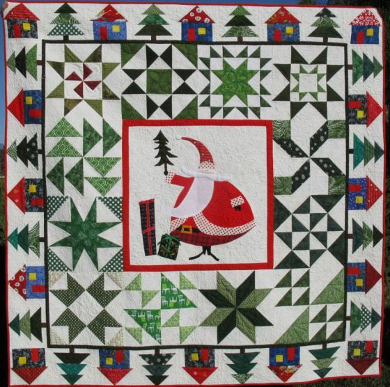 Jolly Old St. Nicholas quilt from opquilt.com