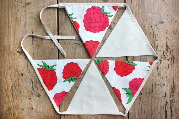 Raspberry Ripple Bunting Banner Pennant by annasbluebellblue
