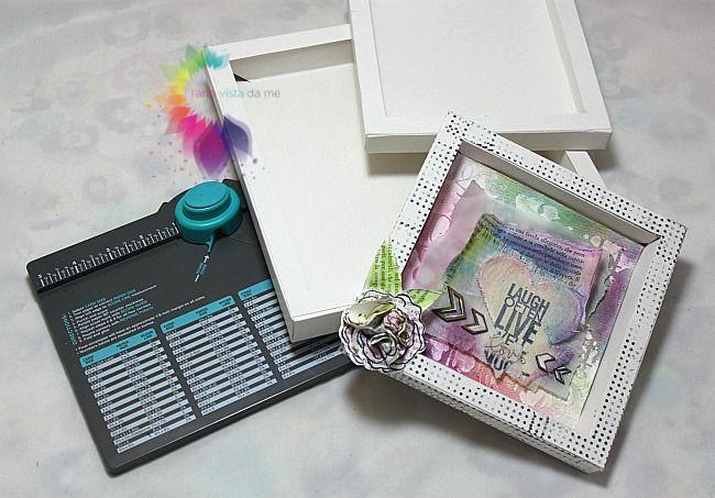 Shadow box con Envelope Punch Board-Cornice 3D- Fiore 3d Fai da te | l'arte vista da me