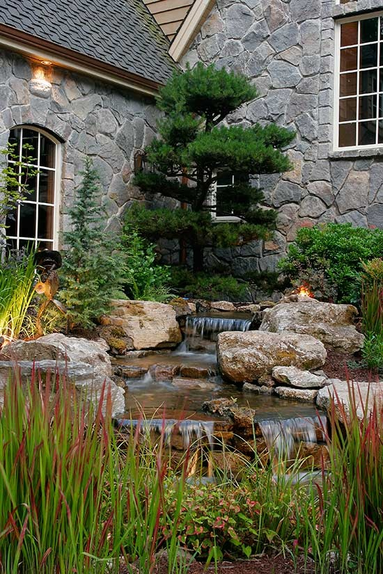 Custom water feature (Can you just imagine.. the stress dissolving.. listening to this...)