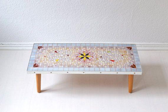 Vintage plant stand flower table kidney table by MightyVintage /  #mightyvintage #vintage #plantstand #flowertable #coffeetable #flowerbench #table #60s #GDR #eastgerman #furniture #vintagefurniture #midcentury #mcm #midcenturymodern #modern #smalltable #german #germany #berlin #etsy #mosaic #mosaictable #60s #60sfurniture #furniture