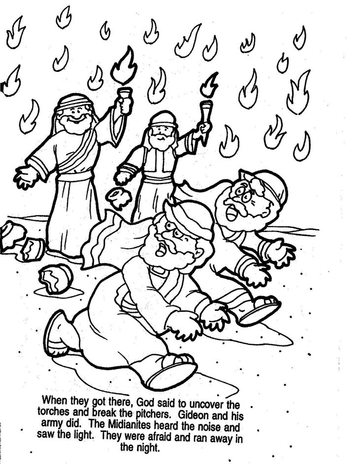 gideon coloring pages for sunday school | Week 29- Gideon (Use on shield) | Kid's Club--Cumberland ...