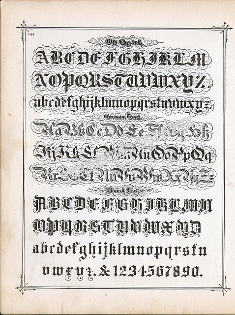 Lettering Alphabet Calligraphy Lessons 1886 | Flickr - Photo Sharing!