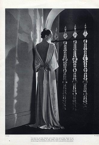 Chanel 1935 Evening Gown, Fashion Photography by Lipnitsky | Hprints.com