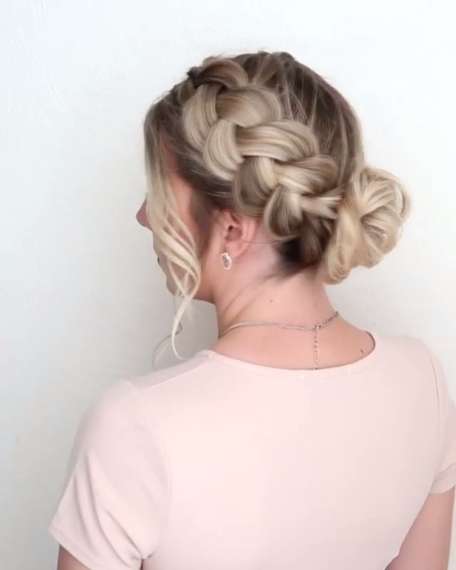 #hair #haircut #hairstyle #hairtutorials #hairstyles #haircolor #bridalhair #weddinghair #braided #braids #updos