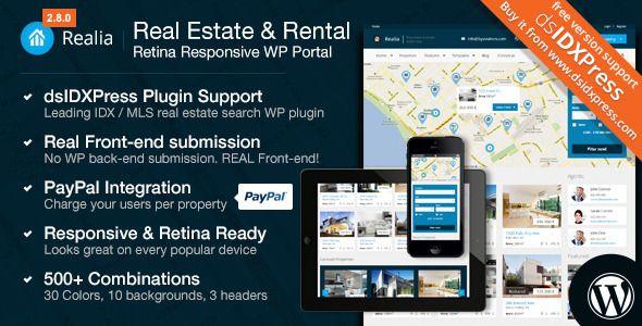 Realia – Responsive Real Estate, Property WordPress Responsive Theme