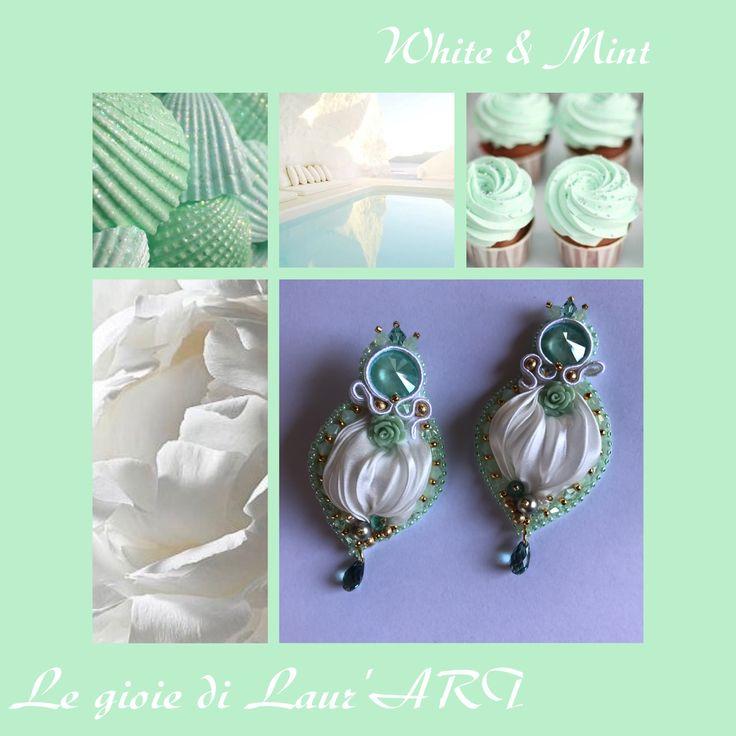 Bianco e verde menta