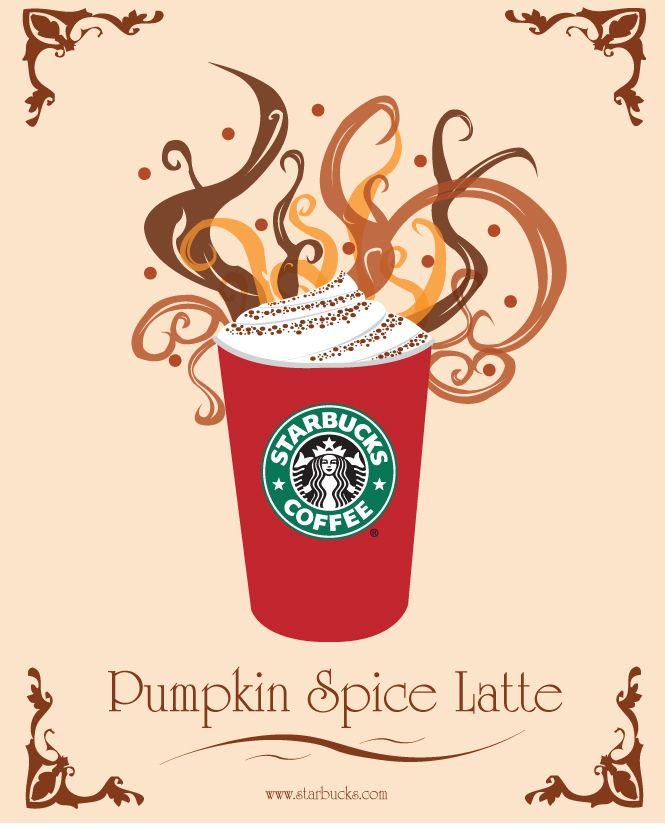 Starbucks Ad for Pumpkin Spice Latte