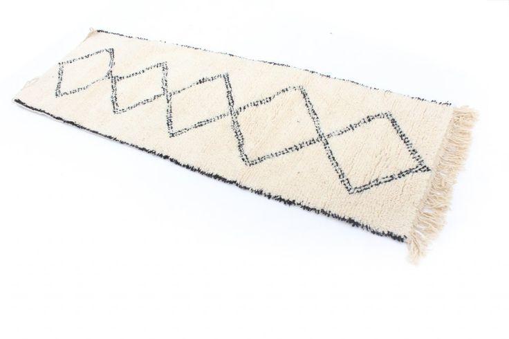 Kelim Marokkaanse Berber tapijt Beni Ouarain 240 x 70 cm