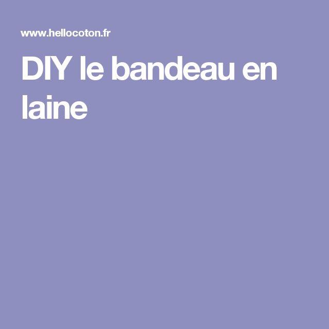 DIY le bandeau en laine