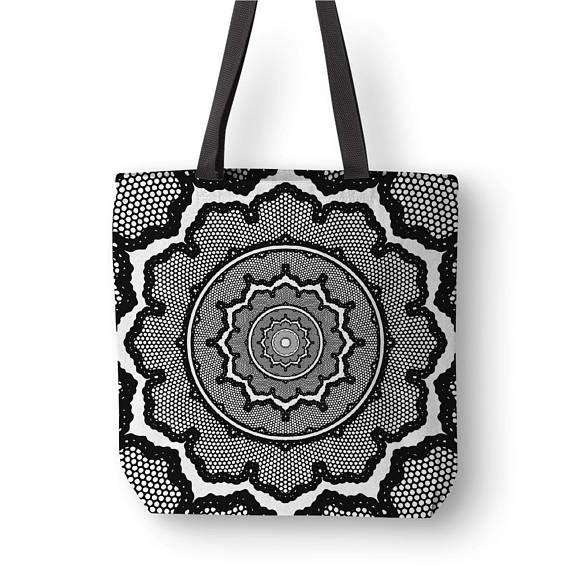 Geometric Art Tote Original Mandala Art Unique Totes