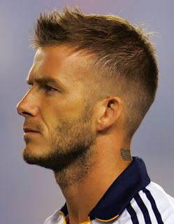 Celebrity Hairstyles: David Beckham Straight Short Hairstyle Picture