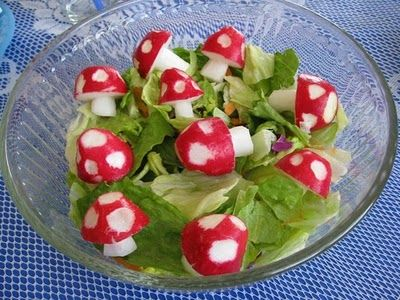 how to make shroom' from radish...such cuteness XD