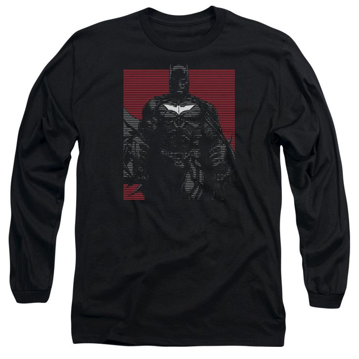 DARK KNIGHT RISES/BAT LINES - L/S ADULT 18/1 - BLACK -