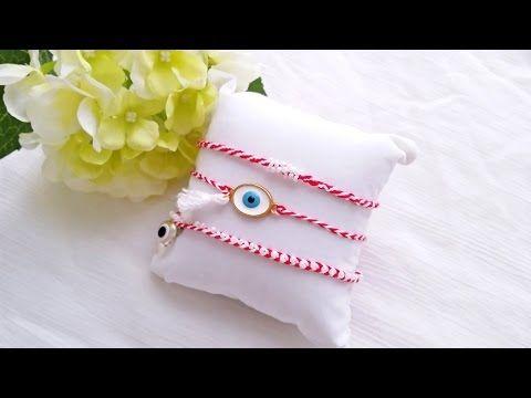 "DIY March Bracelet | Φτιάξε βραχιόλια ""Μάρτης"" - La creme #evileyebracelet #handmade #macrame #beaded #tutorial"