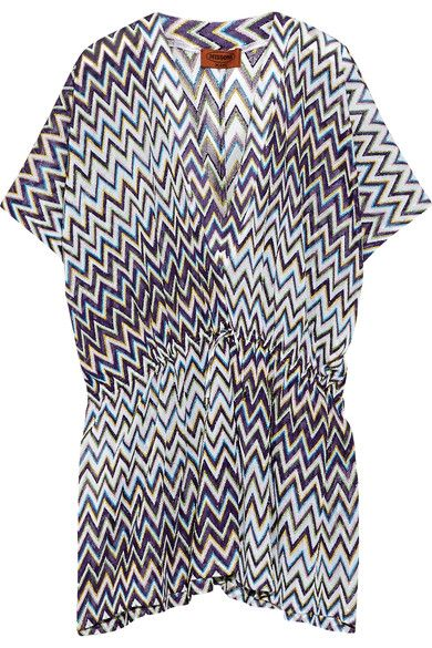 Missoni - Metallic Crochet-knit Kaftan - Purple - IT48