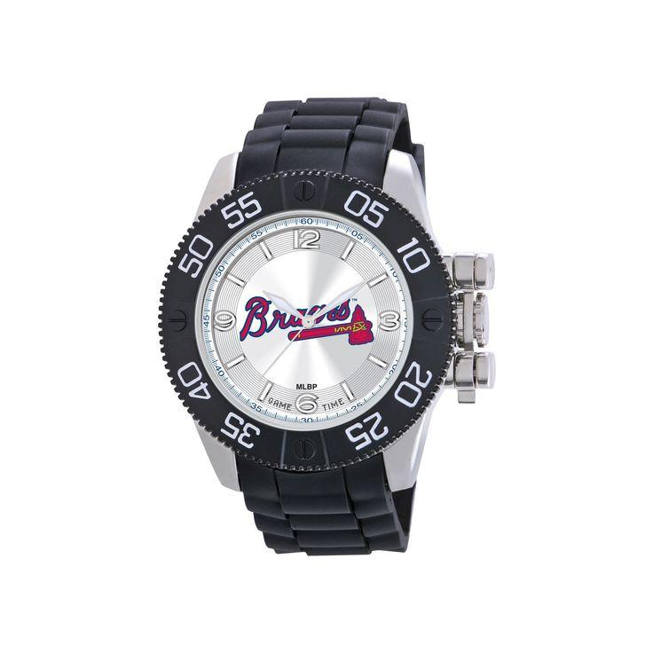 Men's MLB Game Time Atlanta Braves Beast Series Watch - Black