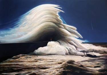 """Saatchi Art Artist Robert Szczebiot; Painting, """"Wave conductor"""" #art"""