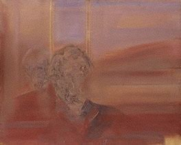 Alan Rawsthorne  by Isabel Rawsthorne (née Nicholas)  oil on canvas, 1966  26 in. x 32 in. (658 mm x 813 mm)  Purchased, 1992  © National Portrait Gallery, London